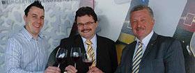 Kellermeister Michael Böhm, Geschäftsführer Uwe Schöttle und Vorstandsvorsitzender Ulrich Maile